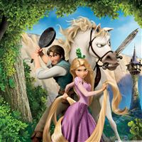 Tangled Rapunzel Flynn And Maximus iPad wallpaper