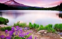 Beautiful Fariy Mountain Lake Scene iPad Air wallpaper
