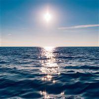 Sea Blue Wave Sunshine Ocean iPad Air wallpaper