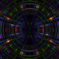 Psychic Color Circle Abstract Dark Rainbow Pattern iPad wallpaper