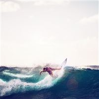 Sea Wave Sports Summer Man Blue iPad wallpaper