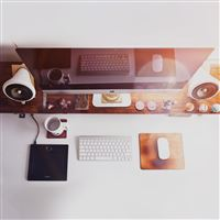 Mac Apple Desk Jeff Sheldon Flare Office iPad wallpaper