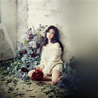 Flower Girl Hyosung Girl Kpop Celebrity iPad wallpaper
