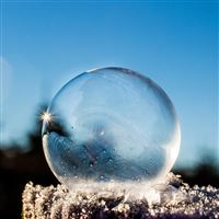 Pure Ice Bubble Sky iPad wallpaper