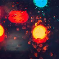 Lights Street City Bokeh Red Dark iPad Air wallpaper