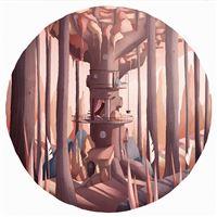 Matin Ordinaire Illustration Art Wood Warm Happy iPad Air wallpaper