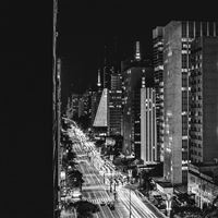 City Night View Urban Street Bw Dark iPad Air wallpaper