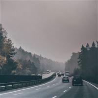 Road Drive Afternoon Nature iPad Air wallpaper