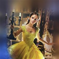 Beauty And The Beast Emma Watson Dress Role Poster iPad wallpaper