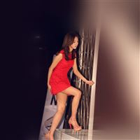 Asian Kpop Star Red Dress Celebrity iPad Air wallpaper