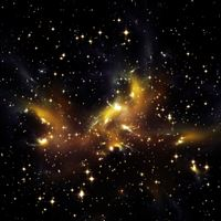 Space Star Dark Pattern iPad Air wallpaper