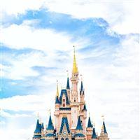 Disney World Castle Sky iPad wallpaper