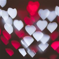 Highlights Hearts Texture Light Pattern Background iPad wallpaper