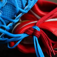 Sneakers Shoelaces Sports iPad wallpaper