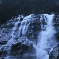 Waterfall Rocks Precipice Water iPad Air wallpaper