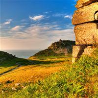 Exmoor Somerset Grass Sky Hdr iPad Air wallpaper