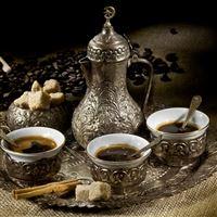 Coffee Tea Cups Grains Tray Cinnamon Spatula Sugar iPad wallpaper