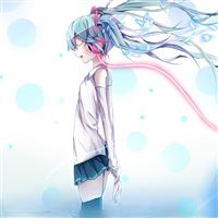 Vocaloid Hatsune Miku Headphones Wire Water iPad Air wallpaper