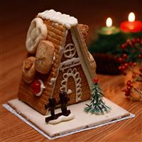 Christmas New Year Sweets House Candles iPad Air wallpaper