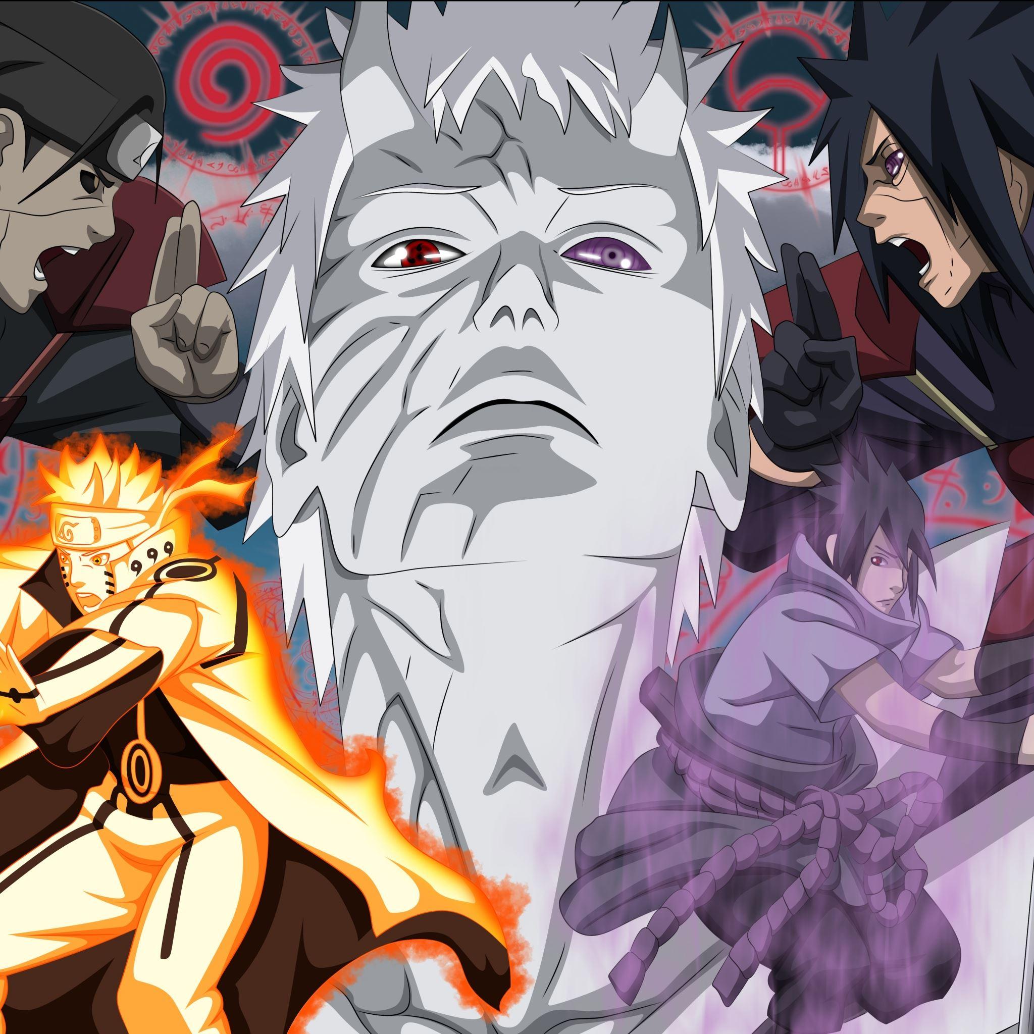 Madara Uchiha Naruto Anime Obito Tobi Akatsuki iPad Air wallpaper