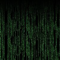 Abstract Shiny Matrix Code iPad wallpaper