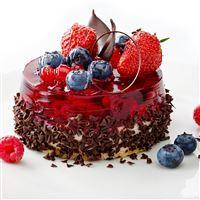 Jelly Strawberry Blueberry Chocolate Cake Dessert iPad Air wallpaper