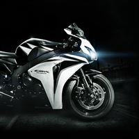 Honda Cbr Fireblade White Black Lights iPad wallpaper