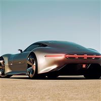 Mercedes Benz Amg Vision Gran Turismo Silver Stunner iPad Air wallpaper