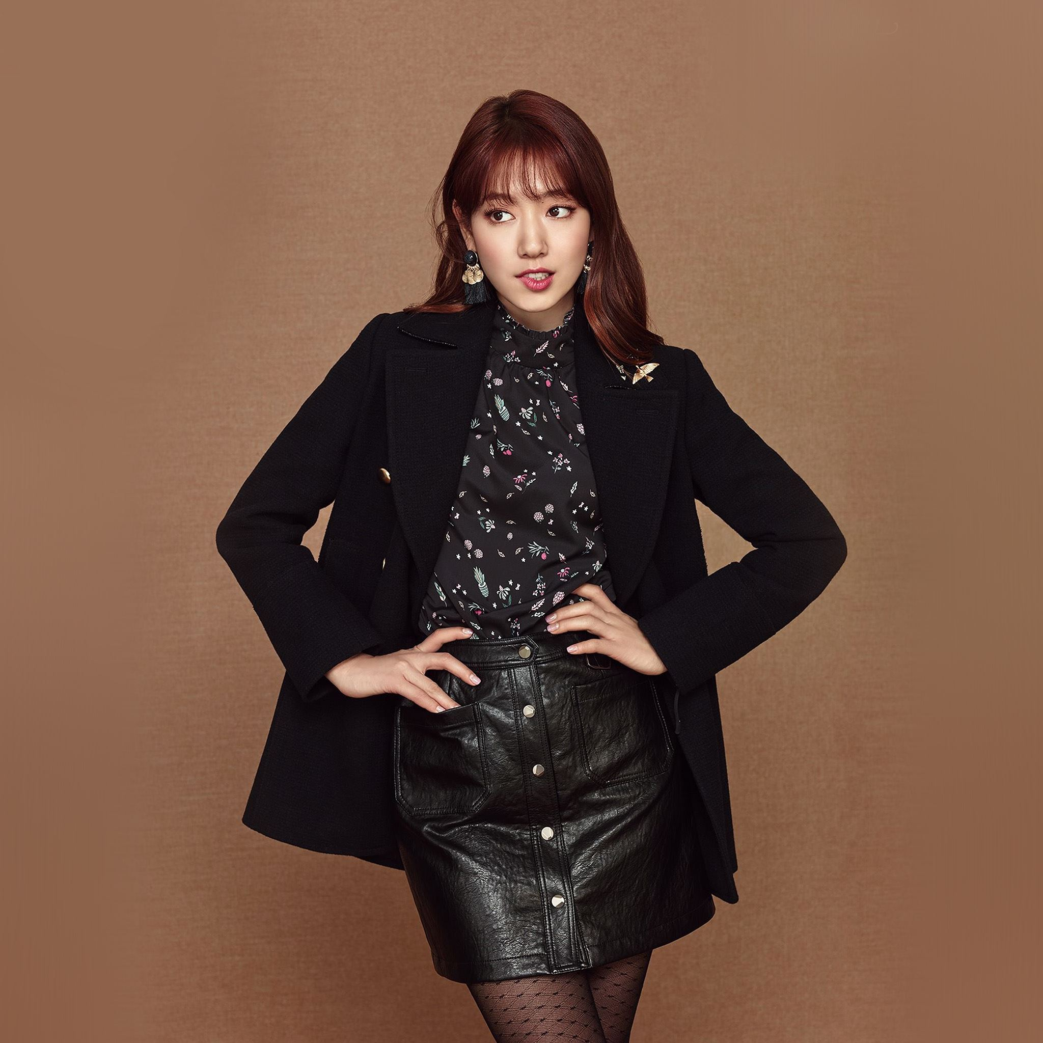 Kpop Park Shinhye Girl Brown iPad Air wallpaper