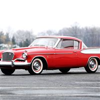 Studebaker Golden Hawk 1957 Red Side View iPad Air wallpaper