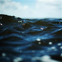 Nature Ocean Sea Wave Bokeh Macro iPad wallpaper
