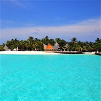 Maldives Tropical Beach Island iPad Air wallpaper