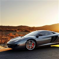 Mclaren Mp4 12c Sport Car Supercar Gray Sunset iPad Air wallpaper