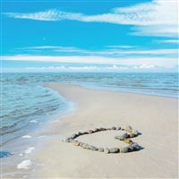 Sea Love Romance Sun Water Sand Rocks Clouds Landscape Waves Beauty Coast Beach iPad Air wallpaper