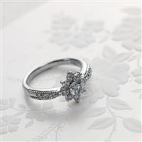 Ring Diamonds Platinum Wedding iPad Air wallpaper