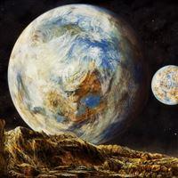 Super Space Planet Sky iPad Air wallpaper