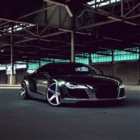 Audi R8 Chrome CW 5 Matte Black Side View iPad Air wallpaper