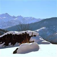 Piedmont Italy Snow Snowdrifts Winter Look Mountains Clearly iPad Air wallpaper