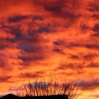 Sky Sunset Clouds iPad wallpaper
