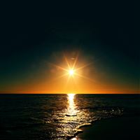 Sunset Beach Sea Nature Sky iPad wallpaper