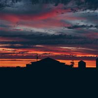 Sky Sunset Building Cloudy Clouds iPad Air wallpaper