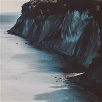 Sea Coast Dark Nature iPad Air wallpaper
