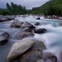 Rivers and stones iPad Air wallpaper