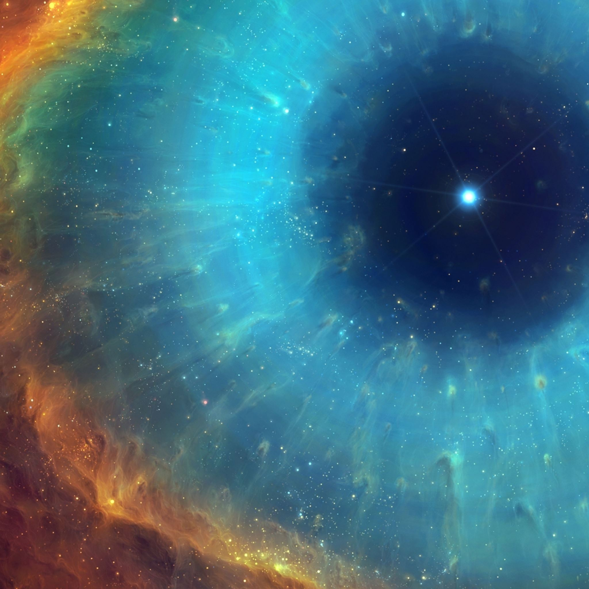 R Wallpaper Download: Art Space Nebula Star Energy IPad Air Wallpaper Download