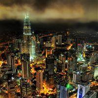 Kuala lumpur night iPad Air wallpaper