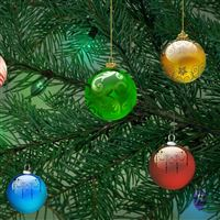 Tree christmas decorations iPad wallpaper