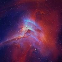 Space star nebula glow iPad Air wallpaper
