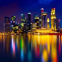 Marina bay Singapore iPad Air wallpaper