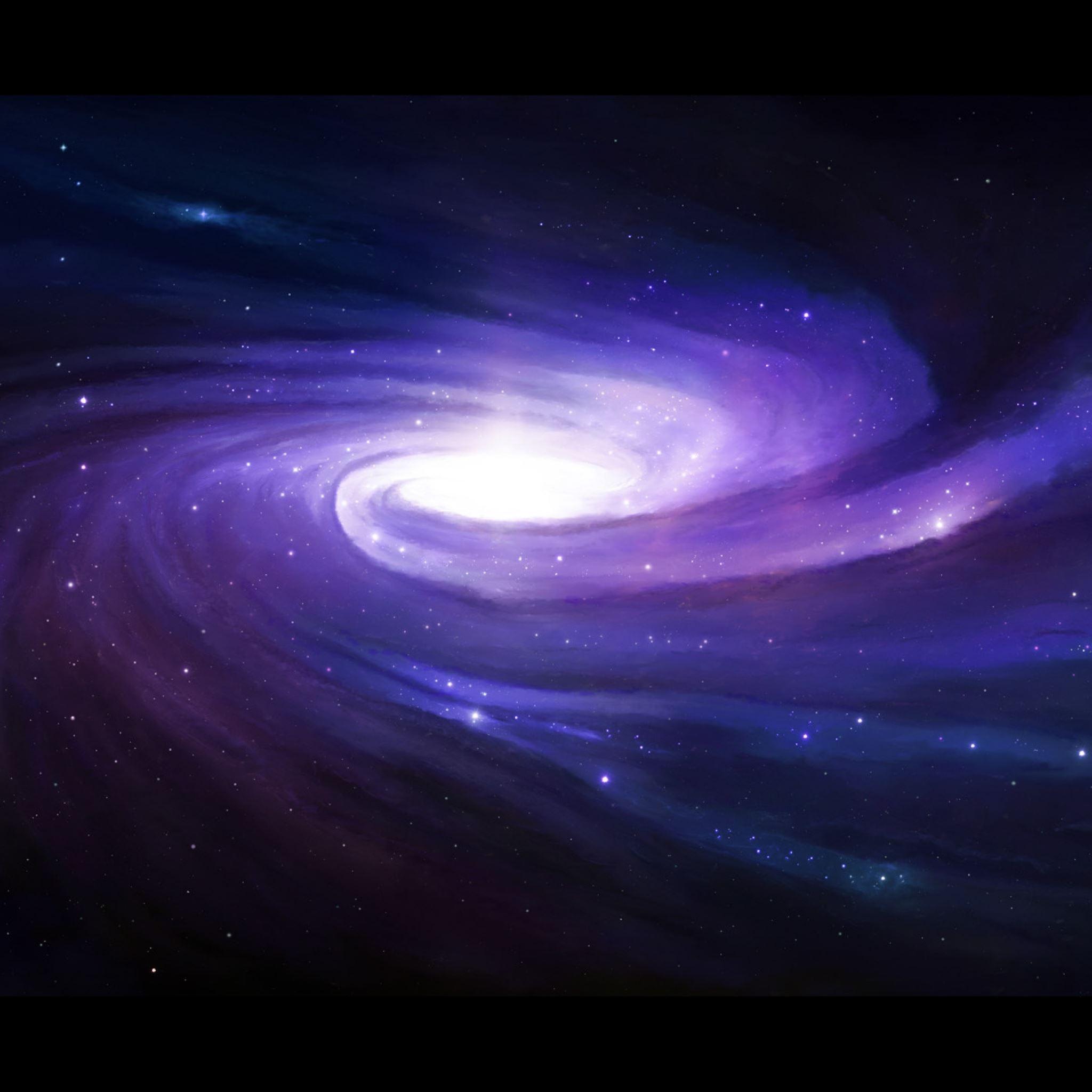 Space art spiral star glow iPad Air wallpaper