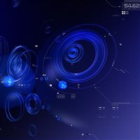 Circles shape blue form system iPad Air wallpaper